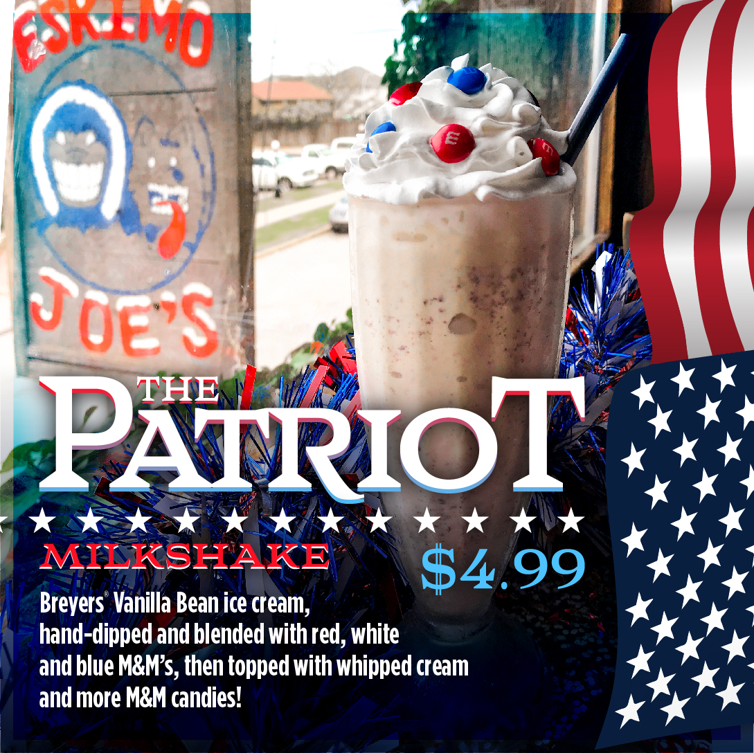 Patriot Milkshake $4.99