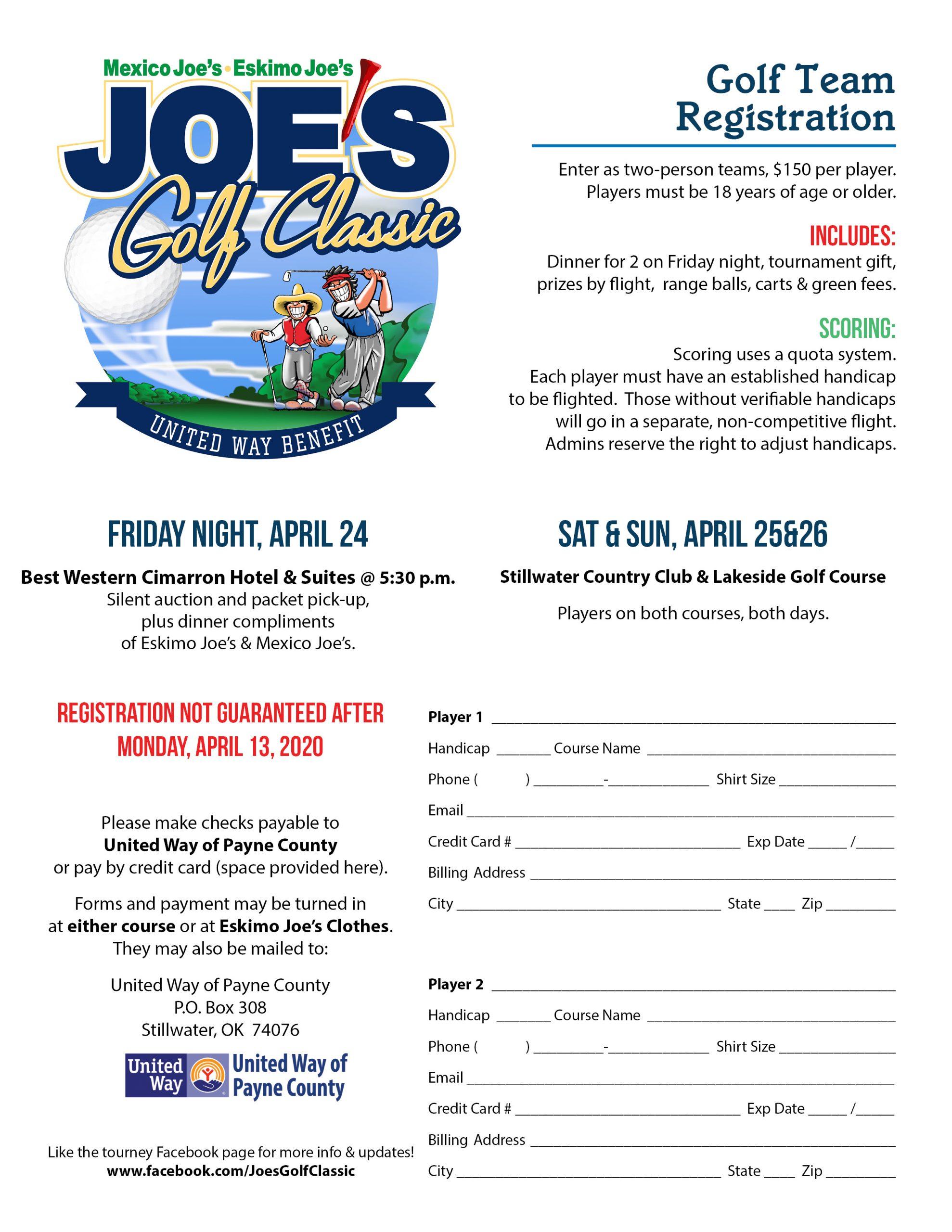 Golf Team Registration